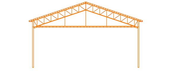 Structure d'acier Plafond plat