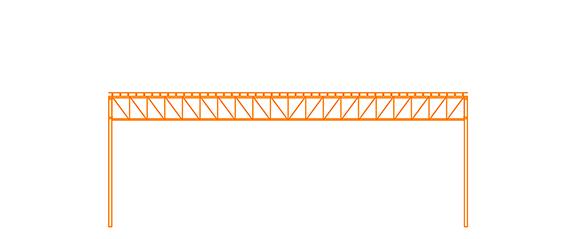 Structure d'acier Toit Plat