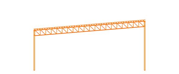 Structure d'acier Le Mono-pente