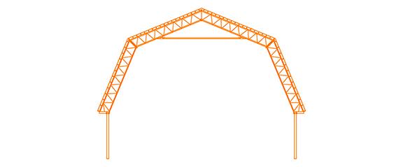 Structure d'acier Le comble français