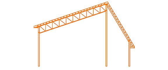 Structure d'acier Le solaire